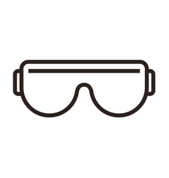 Protective glasses or goggles sign vector