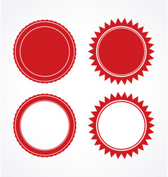 Red blank award certificate seal set vector