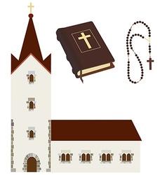 Religious set vector image
