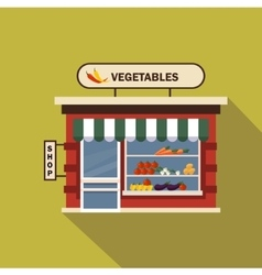 Restaurants and shops facade storefront vector image