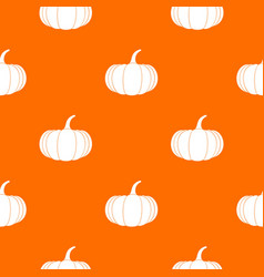 Ripe pumpkin pattern seamless vector