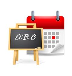 School time vector
