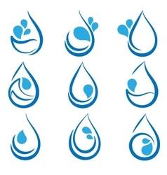 Set water design elements emblems signs logo vector