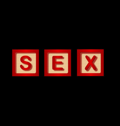 Sex blocks vector