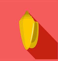 shell icon flat style vector image