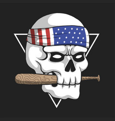skull usa gangster vector image