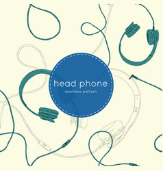 speaker and headphones set seamless pattern vector image