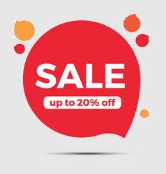 special offer sale red tag vector image