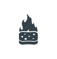 sponge fire concept logotype template design vector image