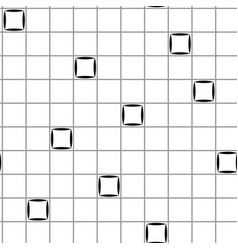 squares in grid chaotic seamless pattern 511 vector image