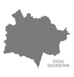 Sygys qazaqstan kazakhstan map grey vector