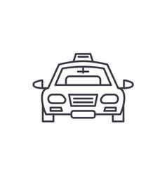 taxi line icon concept taxi linear vector image