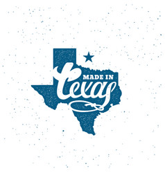 texas lettering vector image