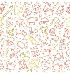 The seamless multi-colored pattern on the kitchen vector