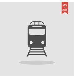 Train icon Flat design style vector image