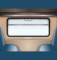 Train window travel and transportation train vector