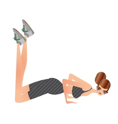 Trendy fitness pose 03 vector