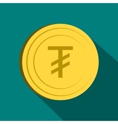 Tugrik icon flat style vector image