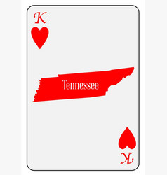 Usa playing card king hearts vector