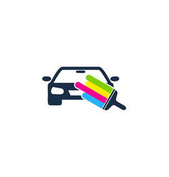 Vehicle paint logo icon design vector