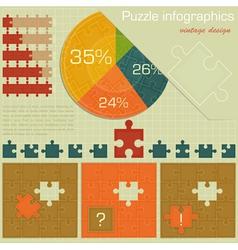 Vintage infographics set vector