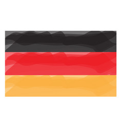 watercolor flag of germany vector image