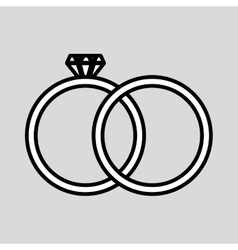 Wedding rings design vector