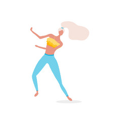 woman character dancing in a modern flat style vector image