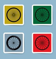 bicycle wheel icon set vector image