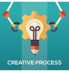 Creative process - flat design single icon vector