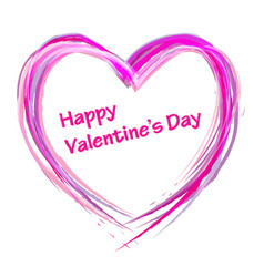 draw heart valentine day vector image vector image