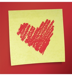 sticky note valentines vector image vector image