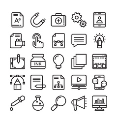 Web Design and Development Colored Icons 2 vector image