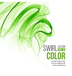 Abstract green swirl background vector