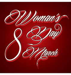 Creative typographic design for Happy Womens Day vector image vector image