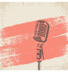 Retro Microphone Brush vector image vector image