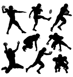Silhouettes American Football Players vector image vector image