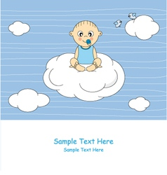 baby sitting on a cloud vector image vector image