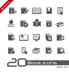 Book Icons Basics Series vector image