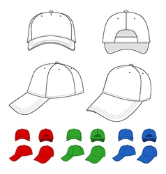 Cap outlined template vector image