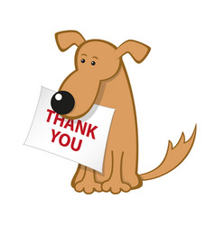 cartoon dog with message paper vector image