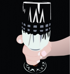 long glass vector image