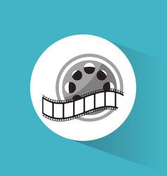 cinema reel film strip movie vector image