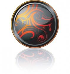 decorative plate vector image