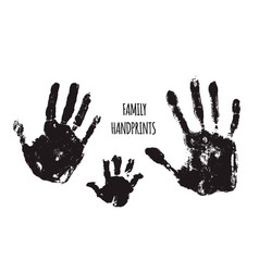 family handprints vector image