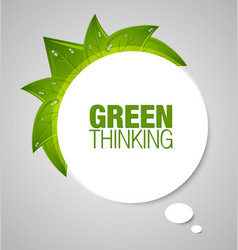 Green thinking bubble vector image vector image