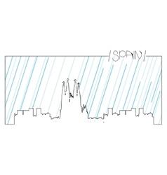Isolated skyline of Barcelona vector image
