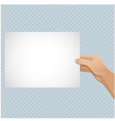 Man hand keeps paper vector image vector image