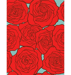roses seamless floral background vector image