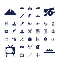 37 antique icons vector